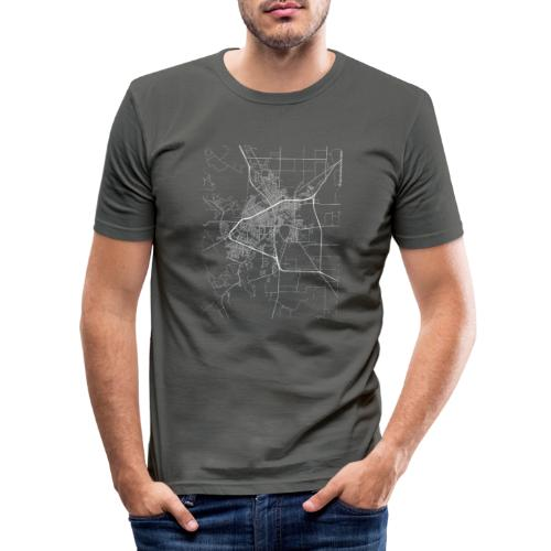 Minimal San Angelo city map and streets - Men's Slim Fit T-Shirt