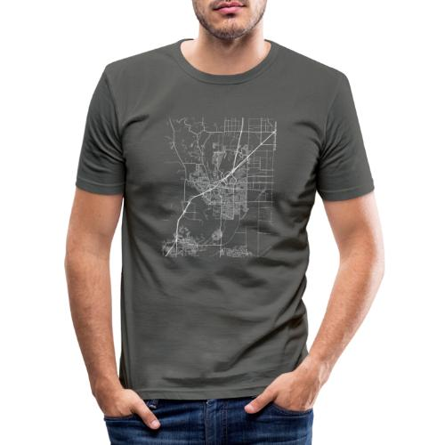 Minimal Vacaville city map and streets - Men's Slim Fit T-Shirt