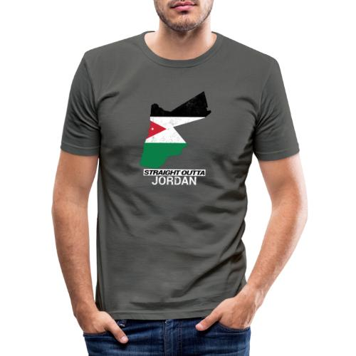 Straight Outta Jordan country map - Men's Slim Fit T-Shirt
