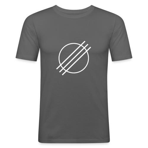 DJ Øyvind Offisiell Logo (hvit) - Slim Fit T-skjorte for menn