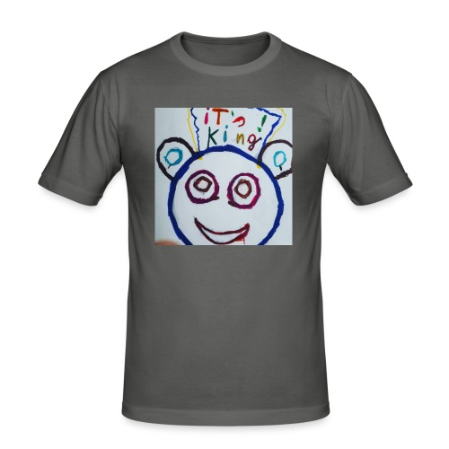 de panda beer - Mannen slim fit T-shirt