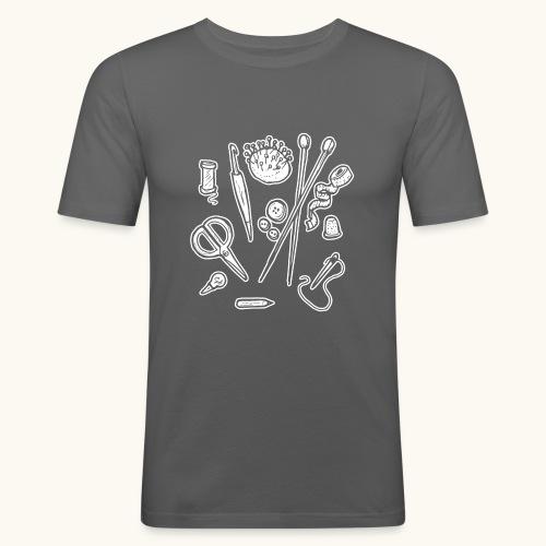 Handarbeiten lustiges Hobby Werkzeuge Geschenk - T-shirt près du corps Homme