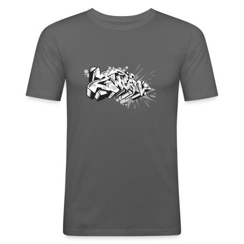 graffiti 2Wear dae120 2tone - Herre Slim Fit T-Shirt