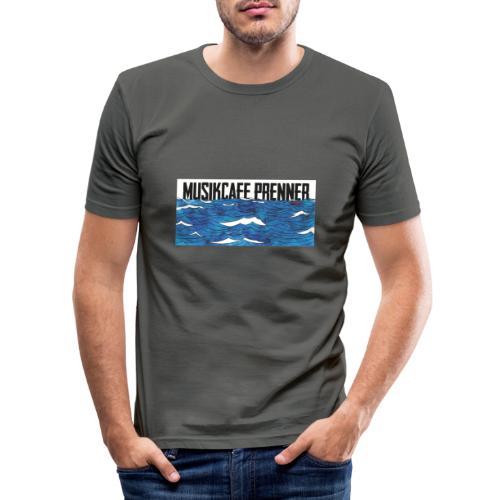 Musikcafe Prenner Schriftzug - Männer Slim Fit T-Shirt