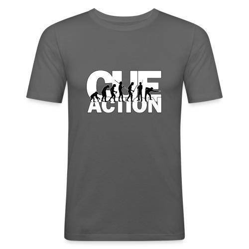 CueAction Evolution - Männer Slim Fit T-Shirt