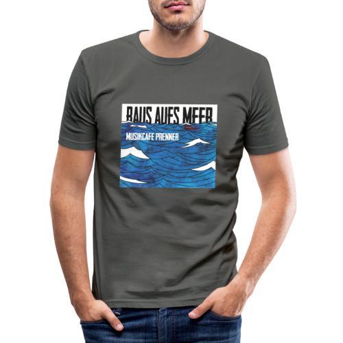 Raus aufs Meer quadratisch - Männer Slim Fit T-Shirt