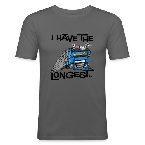 0700 D Truck I have the longest loads (FRONT+BACK) - slim fit T-shirt