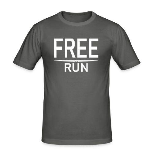 FREE RUN - Mannen slim fit T-shirt
