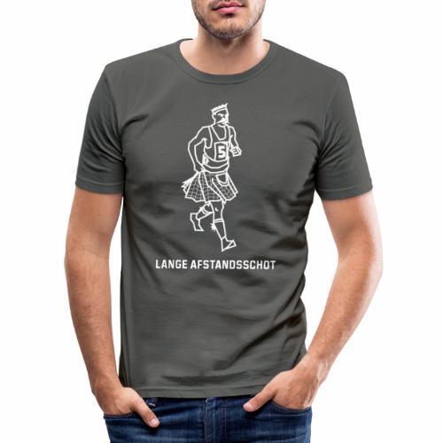 Lange Afstandsschot - Mannen slim fit T-shirt