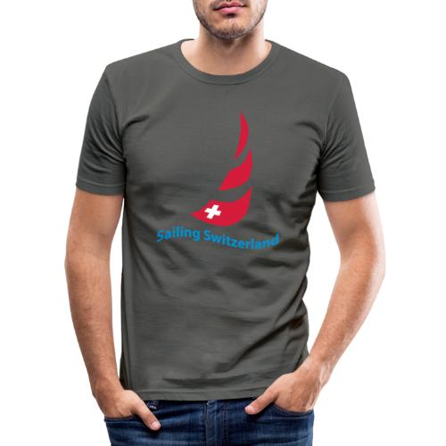 logo sailing switzerland - Männer Slim Fit T-Shirt