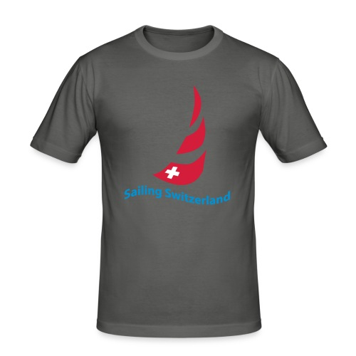 logo sailing switzerland - Männer Slim Fit T-Shirt