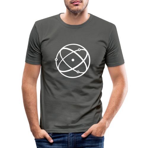 Atom, weiß - Männer Slim Fit T-Shirt