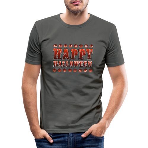 Happy Halloween med pumpor - Slim Fit T-shirt herr