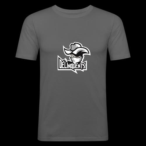 Delinquents Hvidt Design - Herre Slim Fit T-Shirt