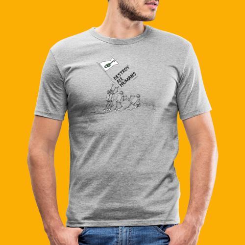 Dat Robot: Destroy War Light - slim fit T-shirt