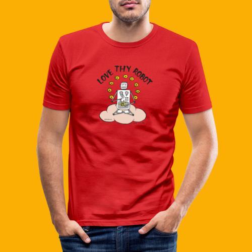Dat Robot: Love Thy Robot Buddha Light - slim fit T-shirt