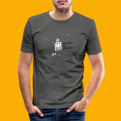 Dat Robot: Happy To Destroy Light - slim fit T-shirt