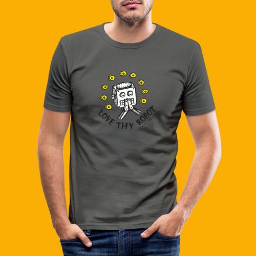 Dat Robot: Love Thy Robot Series Light - Mannen slim fit T-shirt