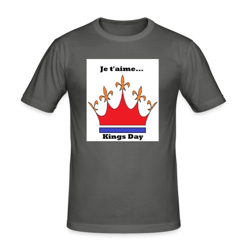 Je taime Kings Day (Je suis...) - Mannen slim fit T-shirt