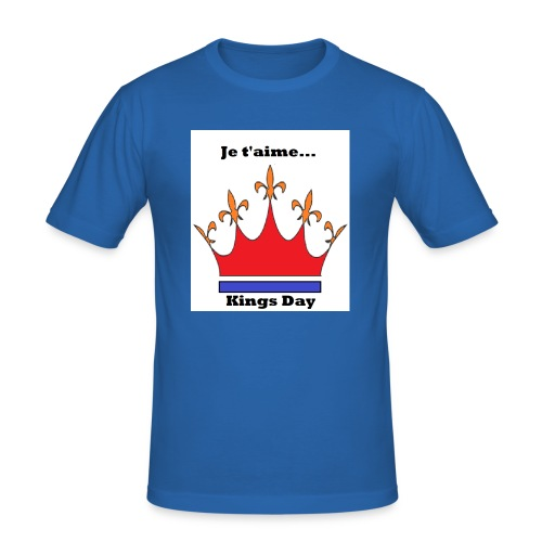 Je taime Kings Day (Je suis...) - Mannen slim fit T-shirt