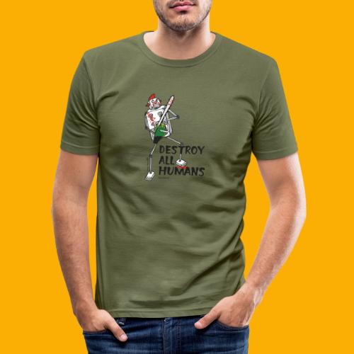 Dat Robot: Destroy Series Killer Clown Light - Mannen slim fit T-shirt