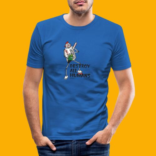 Dat Robot: Destroy Series Killer Clown Light - Mannen slim fit T-shirt