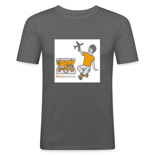 Piazzavacanze logo - Maglietta aderente da uomo