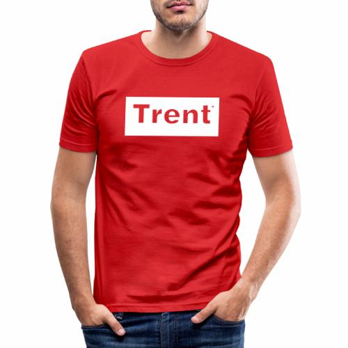 TRENT classic white block - Men's Slim Fit T-Shirt