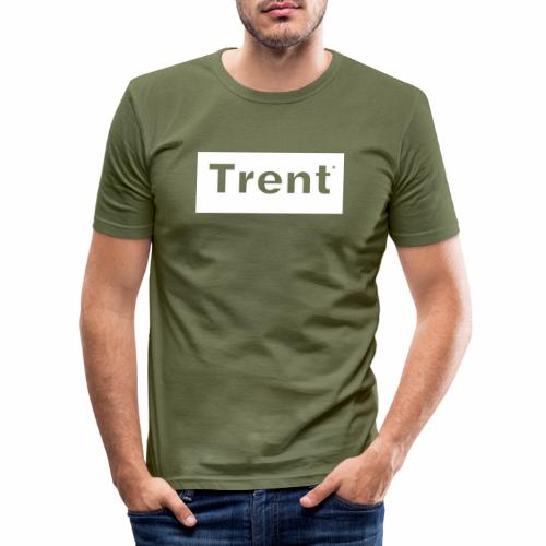 TRENT classic white block - Men's Slim Fit T-Shirt