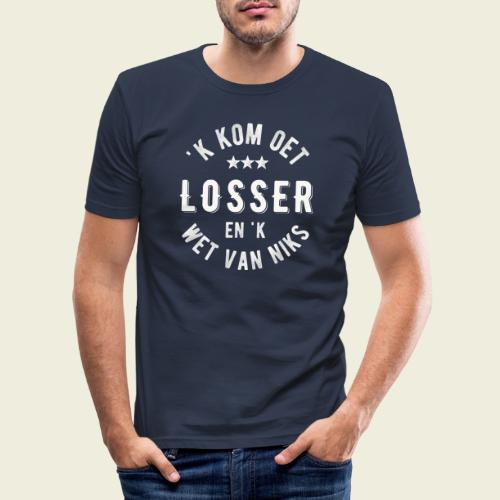 'k kom oet Losser en 'k wet van niks - Mannen slim fit T-shirt