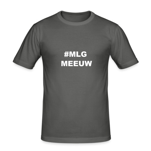 MLG MEEUW Black - slim fit T-shirt