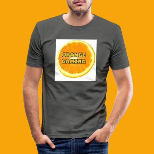 Orange_Logo_White - Men's Slim Fit T-Shirt