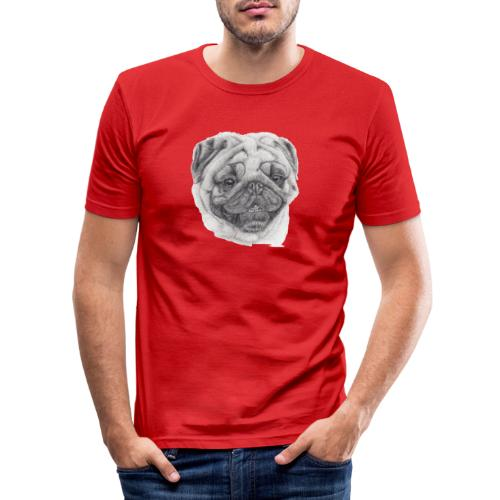 Pug mops 2 - Herre Slim Fit T-Shirt