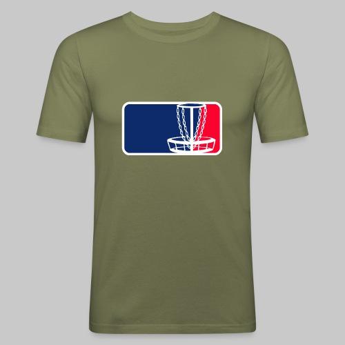 Disc golf - Miesten tyköistuva t-paita
