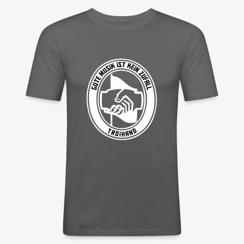 Logo Troihand invertiert - Männer Slim Fit T-Shirt