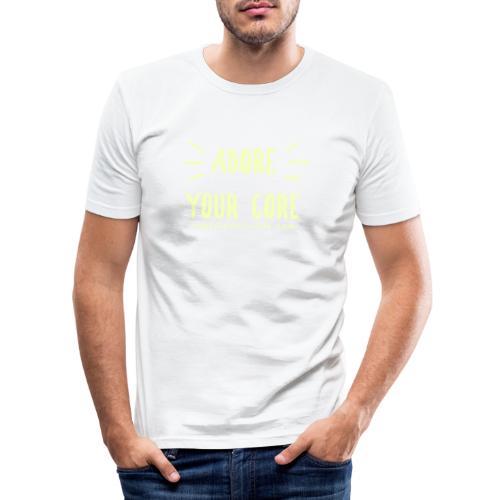 Adore Your Core - Men's Slim Fit T-Shirt