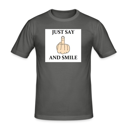 Just say - Obcisła koszulka męska