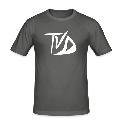 T-Shirt TvD / Black - Mannen slim fit T-shirt