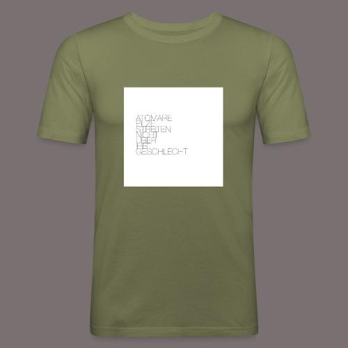 Atomare Pilze streiten nicht über ihr Geschlecht. - Männer Slim Fit T-Shirt