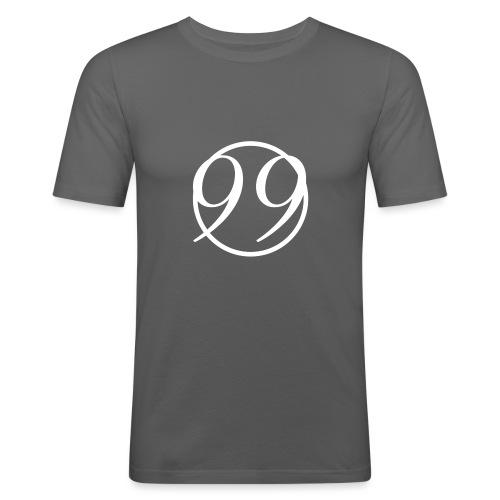 99_white - Men's Slim Fit T-Shirt