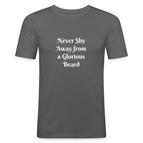 Funny beard shirt - Camiseta ajustada hombre