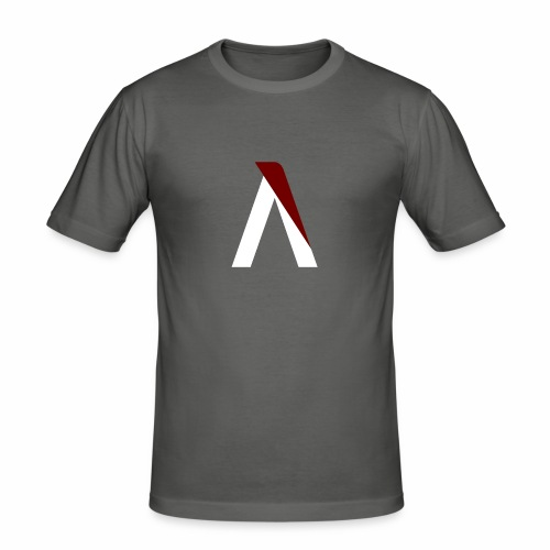 logo aog white and red - T-shirt près du corps Homme