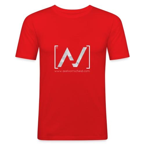 logoalpha blanc - T-shirt près du corps Homme