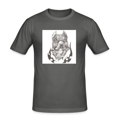 Pitbull Angry face - T-shirt près du corps Homme