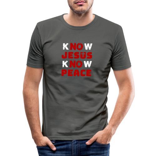 Know Jesus Know Peace (Classic) - Männer Slim Fit T-Shirt