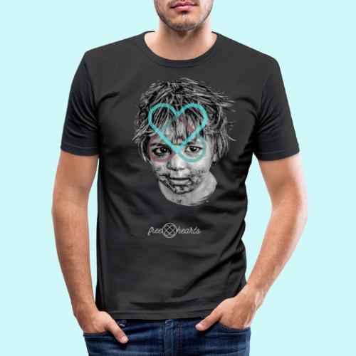 freehearts for povertychild - Männer Slim Fit T-Shirt