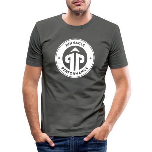 Pinnacle Performance Apparel (White Logo) - Men's Slim Fit T-Shirt