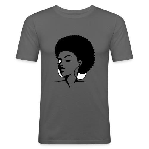 afro lady - Männer Slim Fit T-Shirt