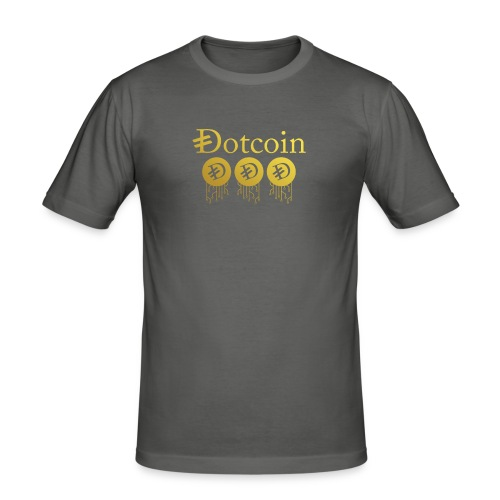 bitcoin like t-shirt - T-shirt près du corps Homme