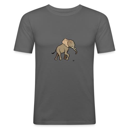 Afrikanischer Elefant - Männer Slim Fit T-Shirt